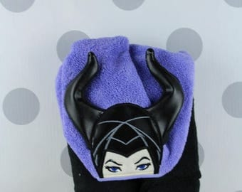 Baby or Toddler Hooded Towel - Maleficent Hooded Towel - Toddler Towel - Maleficent Towel for Bath, Beach, or Swimming Pool, Infant Towel