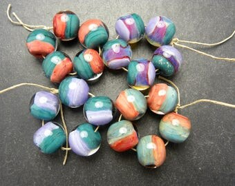 CrazyCatGlass Lampwork Boro Glass Beads RESERVED