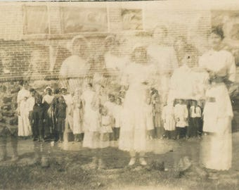 vintage photo 1917 abstract Eerie Unusual Double Exposure Big & Small Ghostly