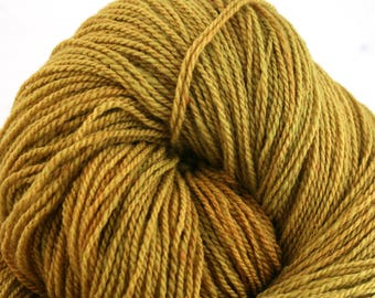 Mohonk Light Hand Dyed fingering weight NYS Wool 550yds 4oz Harvest Gold