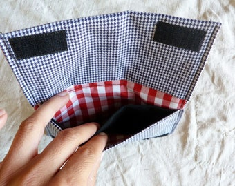 Houndstooth Tobacco pouch #031 recycled materials