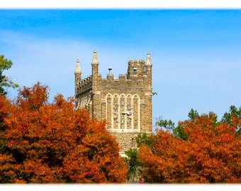 Duke University Clock Tower in Autumn
