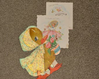 VINTAGE Hallmark 1940s Easter greeting cards vintage ephemera to upcycle