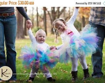 SUMMER SALE 20% OFF Girls Birthday Tutu and Headband Set, Design Your Own 8'' Custom Sewn tutu, You Pick Colors