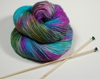 Wonder Sock yarn -  Fairy Tale - 465 yards 100 grams- 72/25 Superwash Blueface wool and Nylon