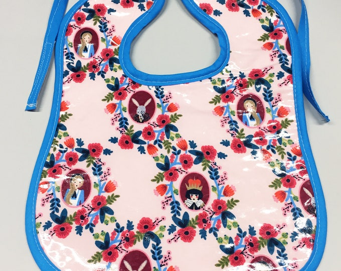 Wipeable Baby Bibs - Alice In Wonderland