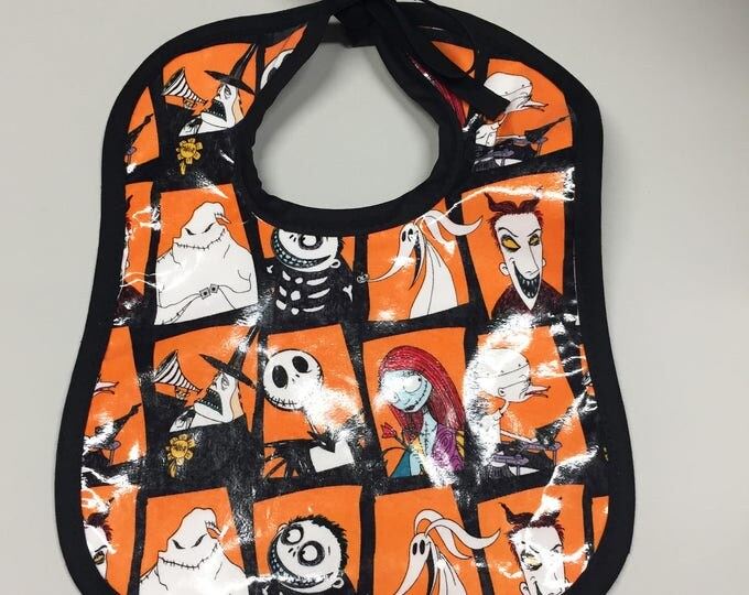 Wipeable Baby Bibs - Tim Burton's Nightmare Before Christmas