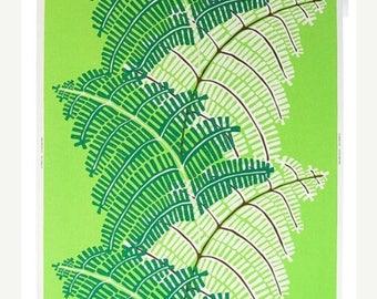 SALE - Green Fern - IKEA Stockholm Cotton Fabric