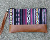 Ethnic Bohemian tribal Clutch / Wristlet