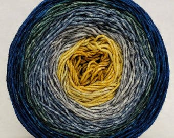 Pardon Me, Sir Panoramic Gradient, dyed to order - pick your yarn and yardage!