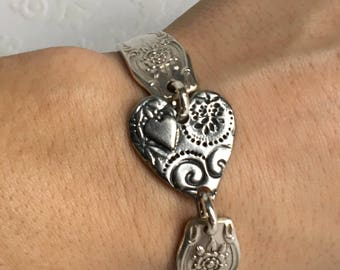 Spoon Handle Heart Bracelet