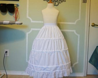 Girls Hoop Skirt for Historical or Fancy Dress Costumes - Made to order