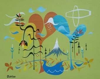 Fernview -original painting shipped free