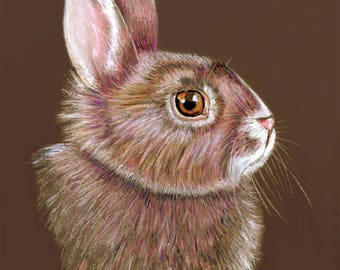 Bunny Rabbit Art Giclee available in 8 x 10 and 11 x 14 inches