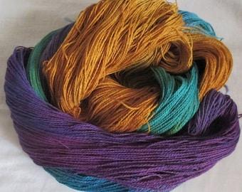 Handpainted Yarn - 4/2 Soft Cotton Yarn  MOONLIGHT BAY