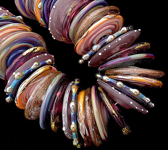 DSG Beads~Artisan Debbie Sanders Handmade Lampwork Glass Beads~Over the Rainbow~Made To Order