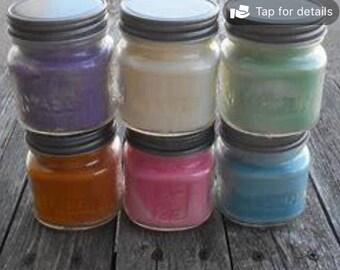 8 oz soy mason jar candle