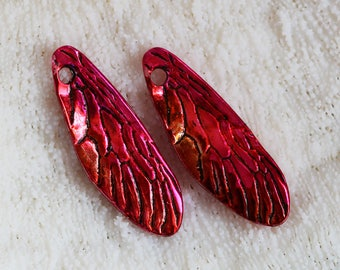 Hand stained and sealed dragonfly wings by joycelo