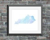 Kentucky watercolor typog...