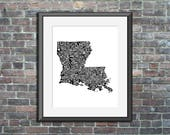Louisiana typography map ...
