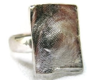 Loveprint Sterling Silver Fingerprint Ring - Style#505
