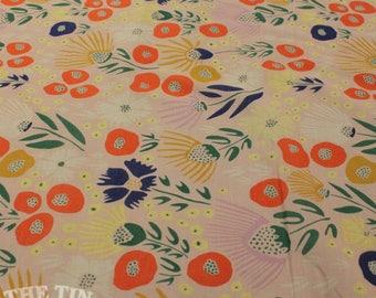 Organic Cotton Cloud 9 Batiste - Floret -  1 Yard- Cotton Fabric / Fabric by Yard / New Fabric / Sewing Supplies / Organic by Yard