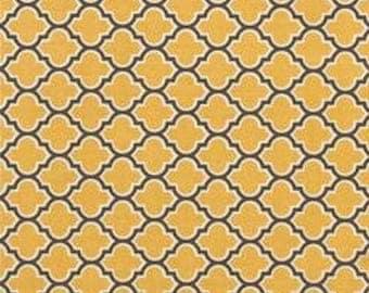 Joel Dewberry Fabric, Aviary 2, Lodge Lattice  Yellow, By the Yard, 100% Cotton - YARD