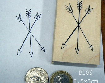 P106   3 Arrows crossed Rubber Stamp