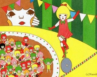 13×19 Art Print -Tightrope -Pizza-