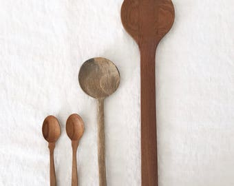 Vintage Wooden Spoon Rustic Cooking Serving Farmhouse Country Shabby Chic