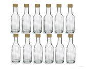 12 pcs 50 ml Round Glass Liquor Bottles with Gold Cap
