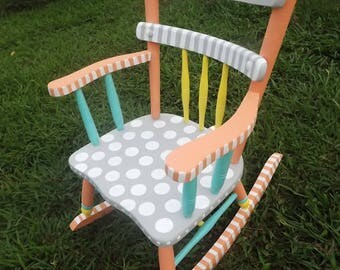 painted kids furniture. plain furniture painted furniture hand kids whimsical rocking  chair nursery room and r