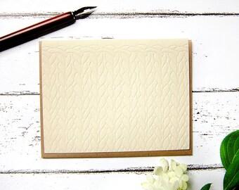 Knit Letterpress Everyday Note Card