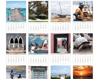 2018 Photo Calendar with Folder and Stand - Zanzibar, Tanzania