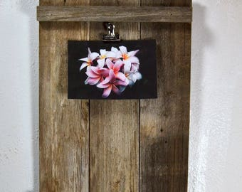 Rustic clipboard photo frame or display for 10x10 or smaller photos