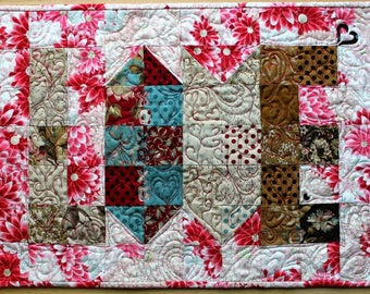 Quilted LOVE Table Runner or Wall Hanging