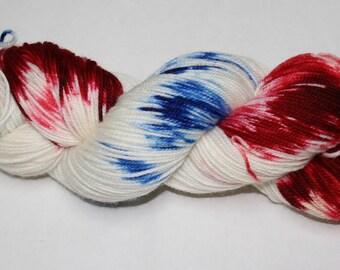 Spangled Hand Dyed Sock Yarn