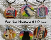 Pottery Cat Necklaces Your Choice Handmade by Gracie While They Last