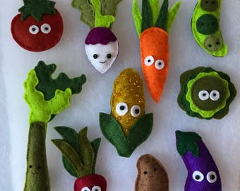Little Veggie Magnets