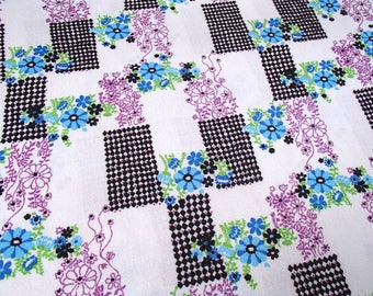 Trevira 2000 / vintage fabric / original 60s / polyester / graphic / skirtmaking