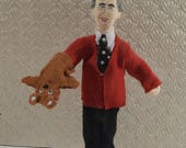Fred Rogers Children's Television Child Educator Collectible Figure Miniature Art