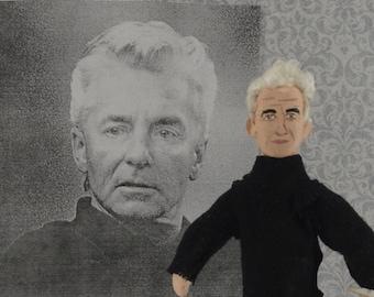 Herbert von Karajan Orchestra Conductor Miniature Figurine Classical Music Art