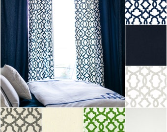 The Kate Trellis Drape with Lining - You pick the Fabric