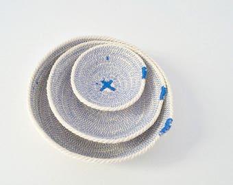 BLACK FRIDAYBLACK FRIDAYCoastal decor cotton rope bowls set of plates.