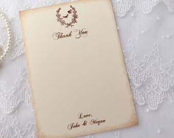 Bee Wedding Thank You Cards, Honey Bee Thank You Cards, Set of 10