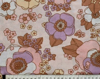 Seventies vintage floral fabric 170x35 cm.
