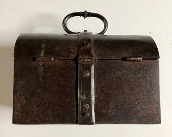 16th Century French Wrought Iron Strong Box or Coffer