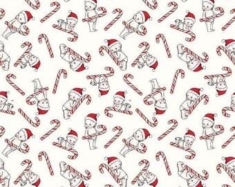 EXTRA20 20% OFF Riley Blake Designs Kewpie Christmas - Cream Candy Cane