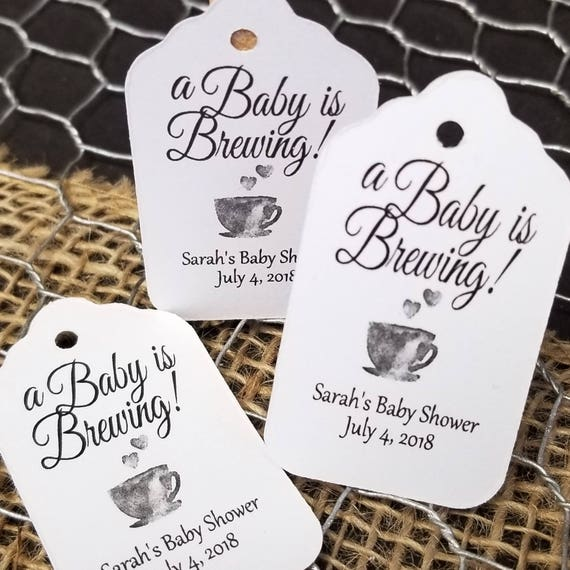 "A Baby is Brewing Choose your quantity (mySMALL) 2"" Favor Tag"