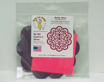 Doily Die...Cheery Lynn Designs...DL184 Sophia's Heart...Die cut for craft Doilies....Beautiful Lacy Doily